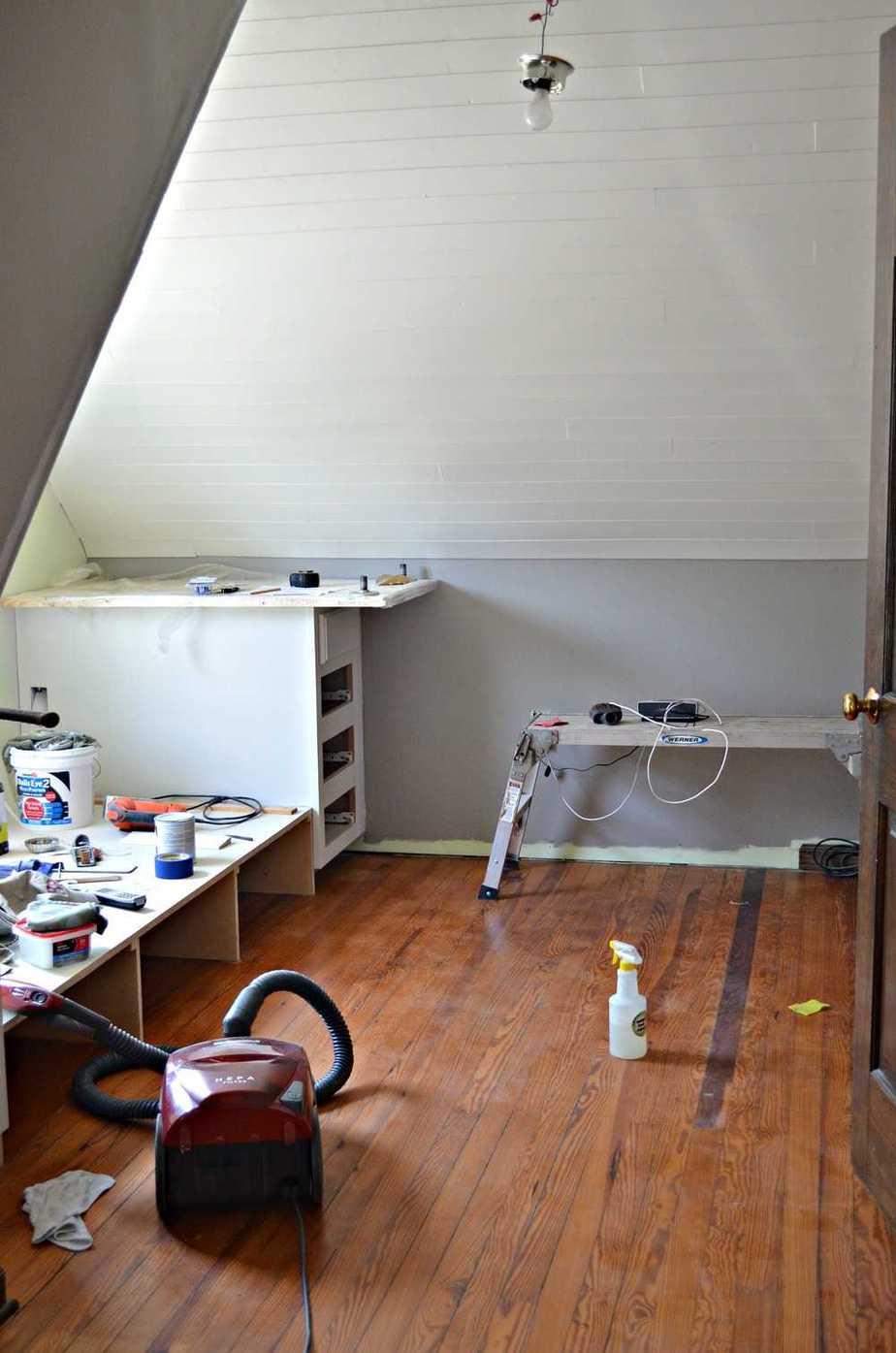 Shiplap ceiling tutorial