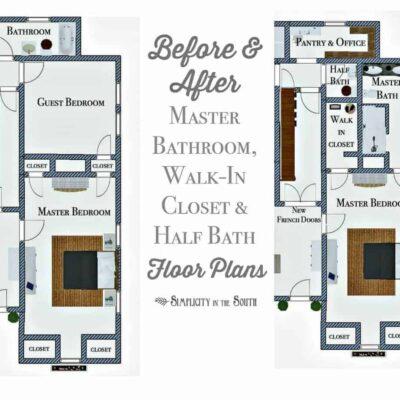 So Long, Spare Bedroom…Hello, En Suite Master Bathroom, Walk-in Closet, and Half Bathroom!
