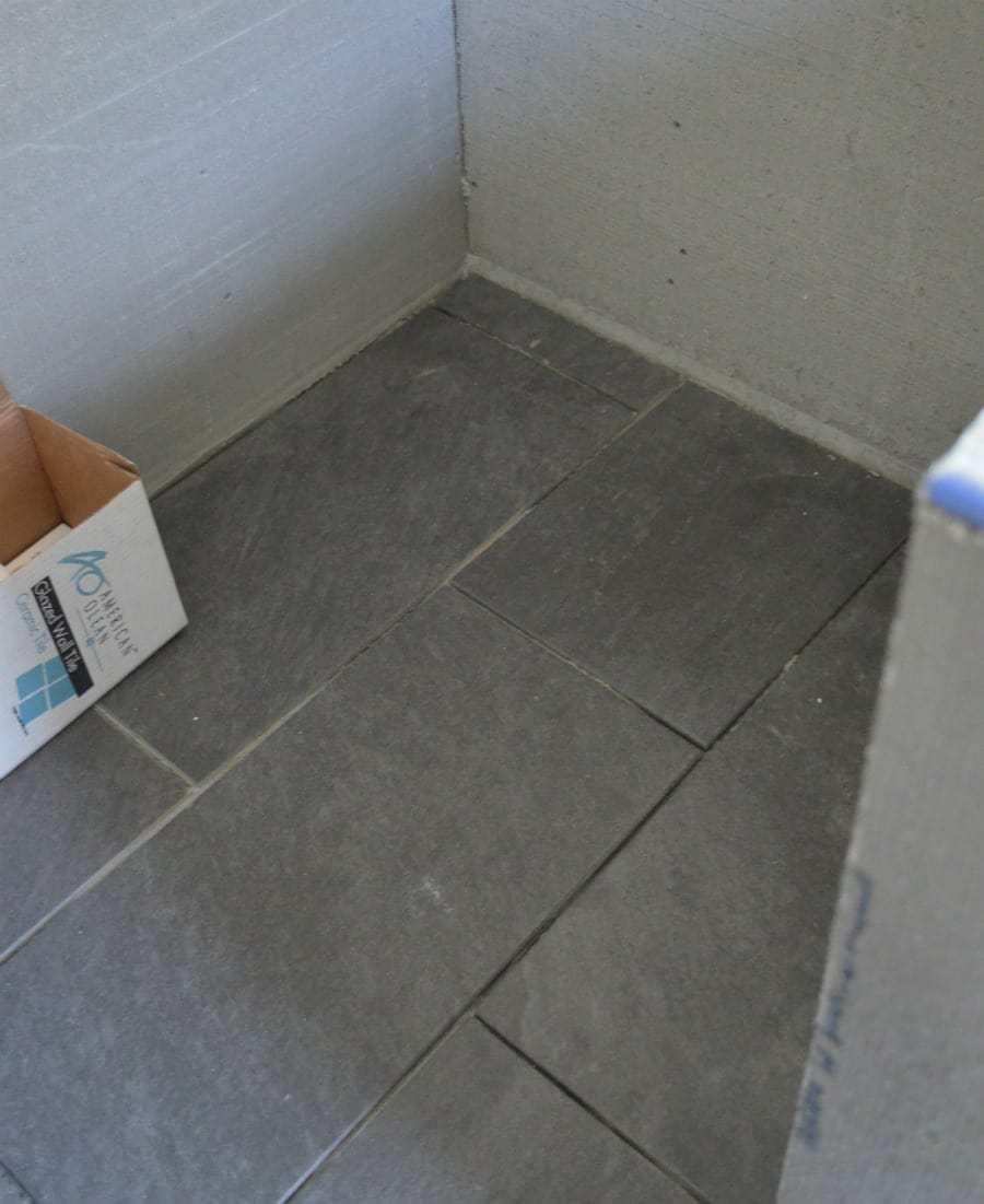 Master bathroom remodel update