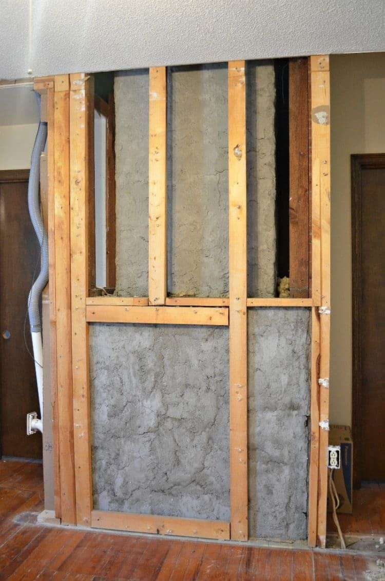 master bathroom remodel fireplace wall