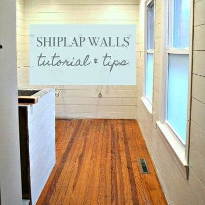 Tutorial and Tips: Shiplap Walls in the Master Bathroom