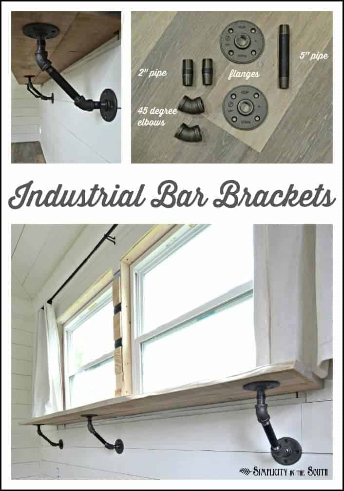How to Make Industrial Bar or Counter Brackets From Steel Pipe 5