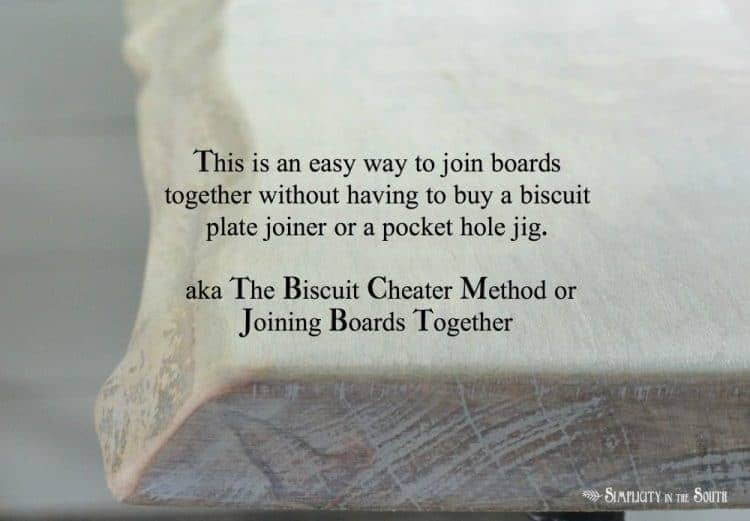 The Biscuit Cheater Method for Joining Boards Together