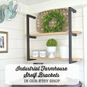 Modern Farmhouse Metal Shelf Brackets on Etsy | Simplicity in the South