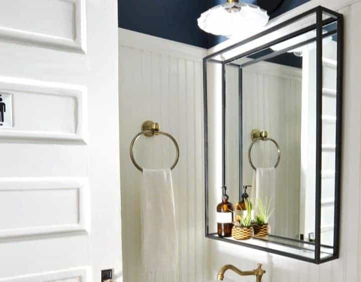 Vintage Modern Powder Room reveal