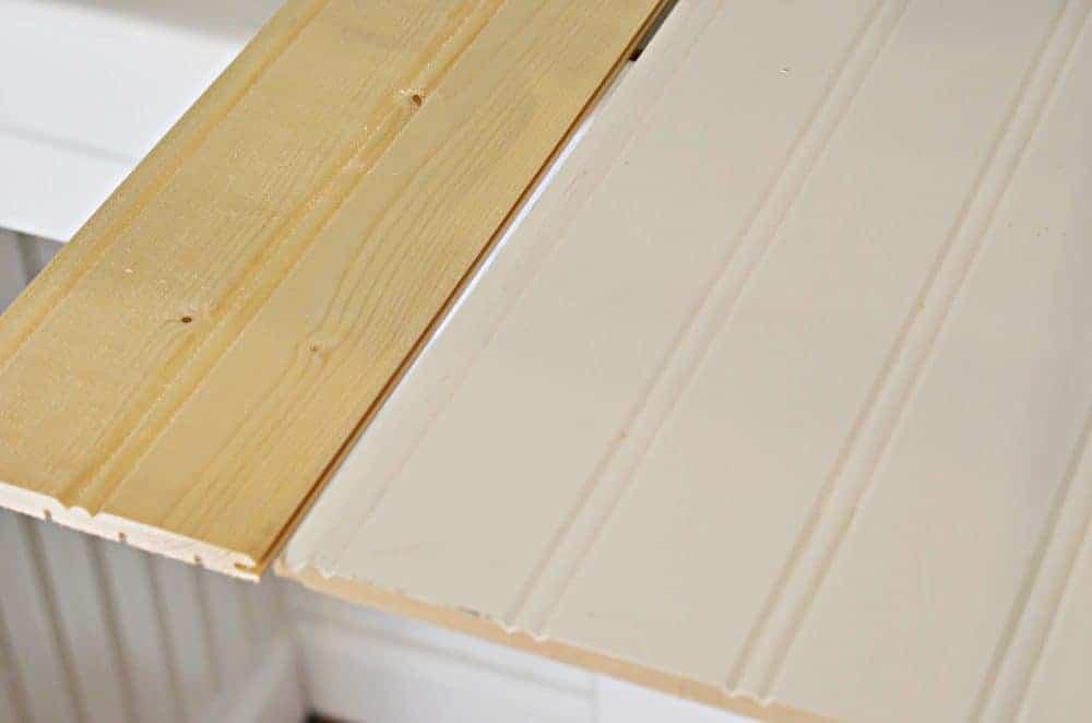 beadboard paneling wood vs. mdf