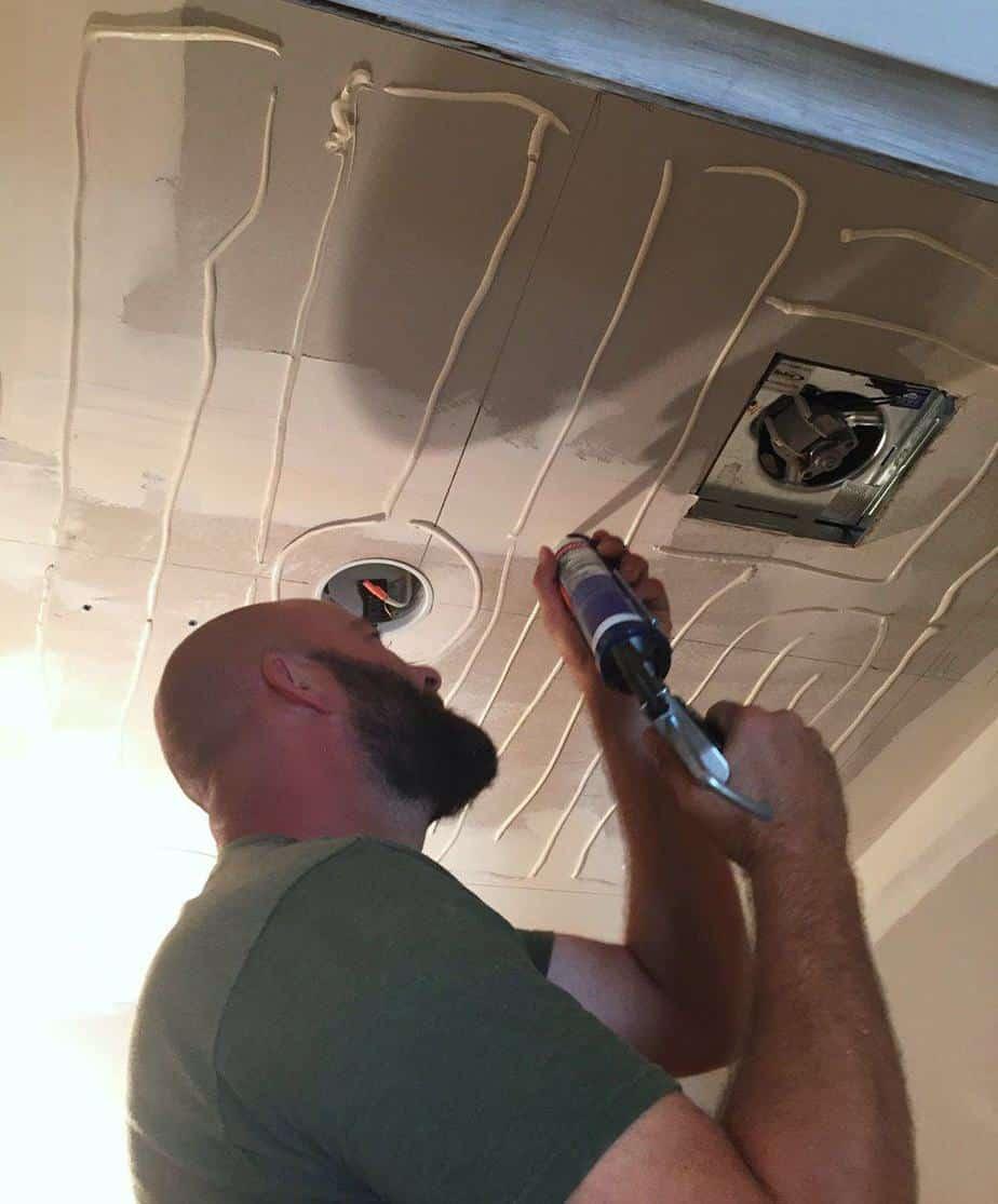 faux tin ceiling installation tutorial