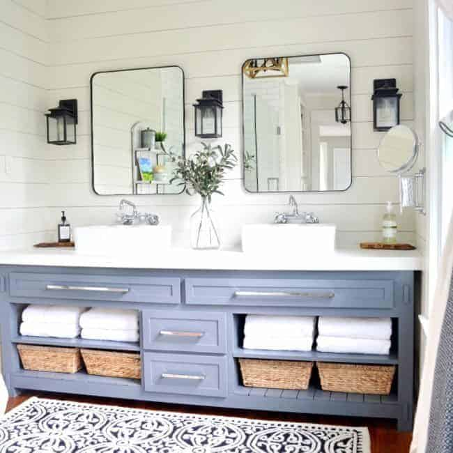 master bathroom remodel reveal square