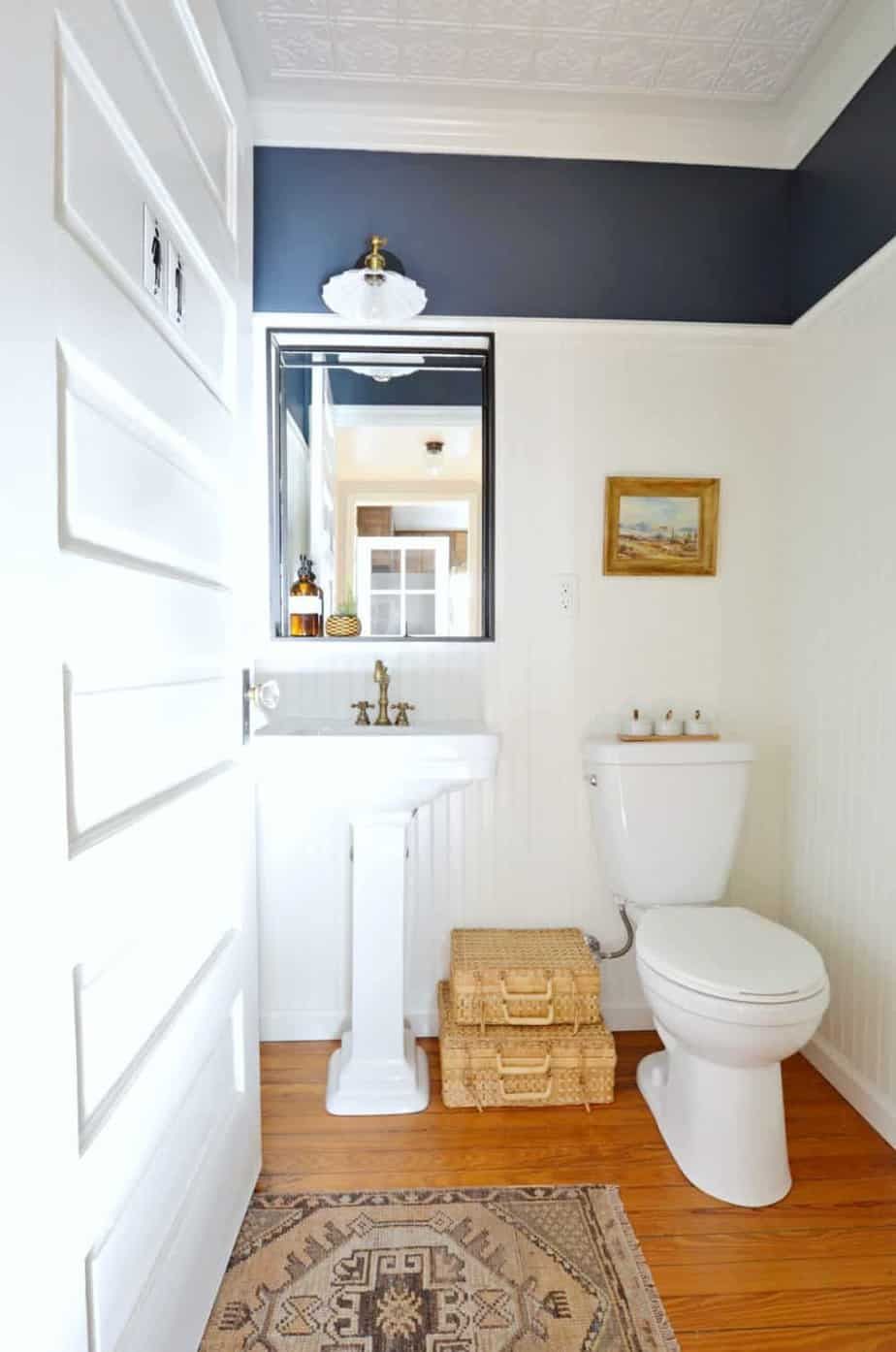 powder room reveal done on a budget