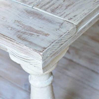 how to use milk paint to distress wood