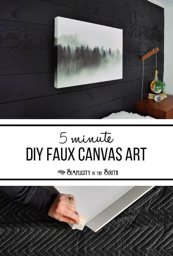 5 minute DIY large faux canvas photo artwork.