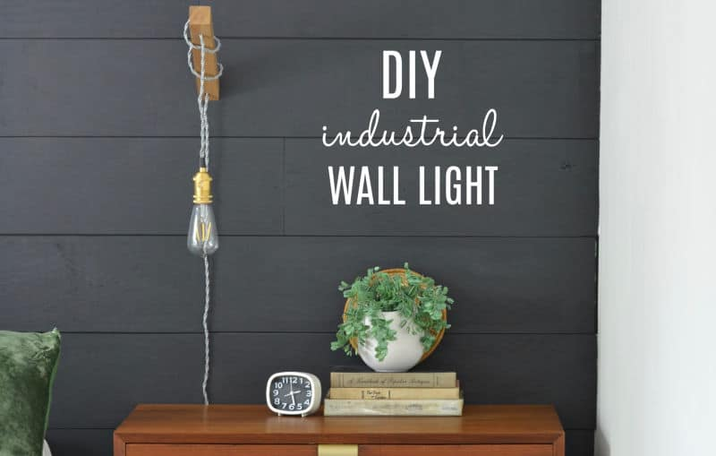 Make a Simple Wooden DIY Wall Light for $25