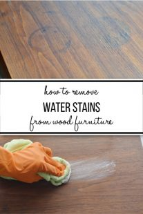 How to remove water stains from wood furniture before and after