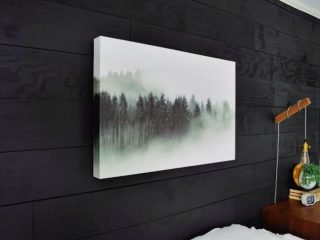 how to make your own easy faux canvas art from photos