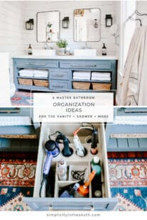 master bathroom organization ideas for the vanity drawers