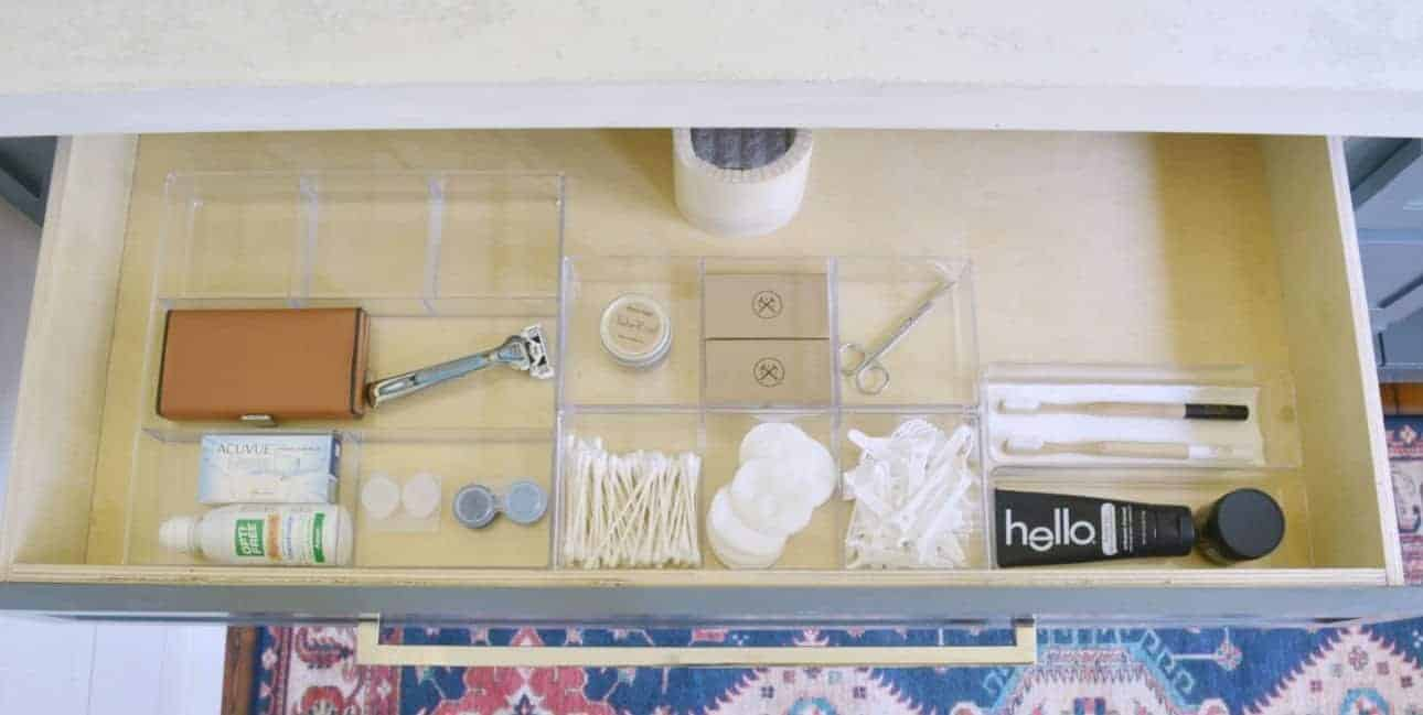 organizing drawers with acrylic drawer organizers