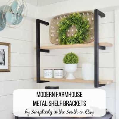Modern Farmhouse Industrial Metal Shelf Brackets in Black by Simplicity in the South on Etsy