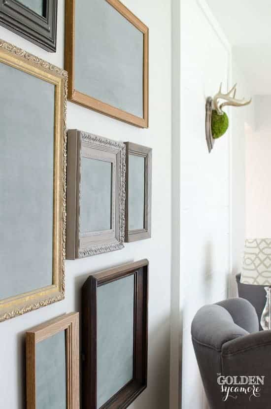 beautiful-vintage-chalkboard-gallery-wall by The Golden Sycamore