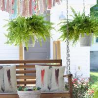DIY Farmhouse-Style Aged Galvanized Hanging Bucket Planters