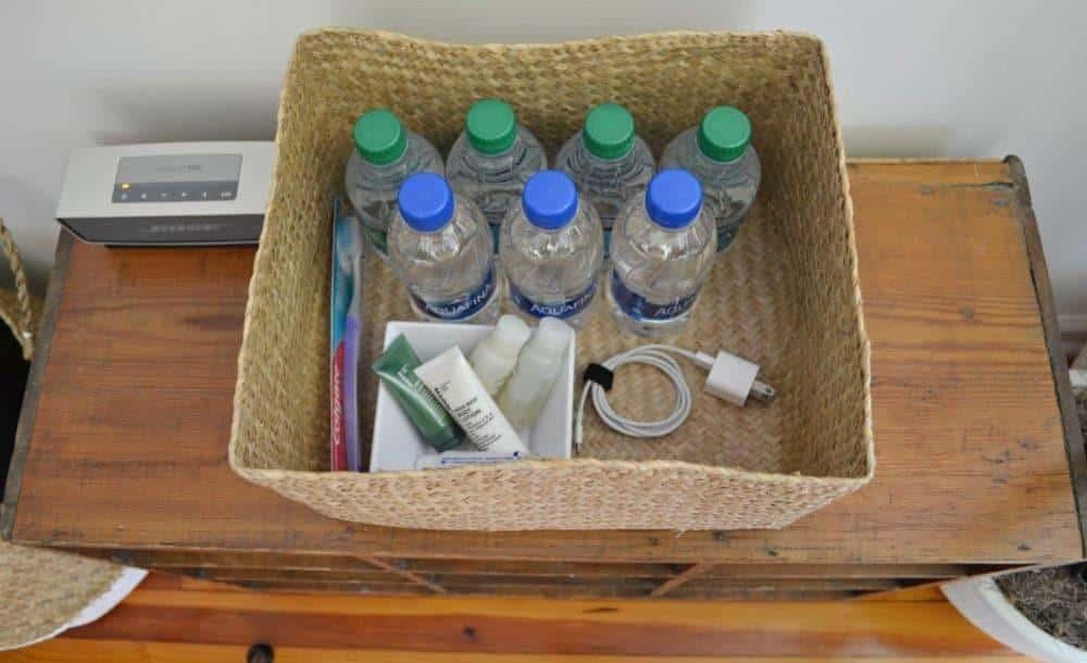 guest bedroom basket