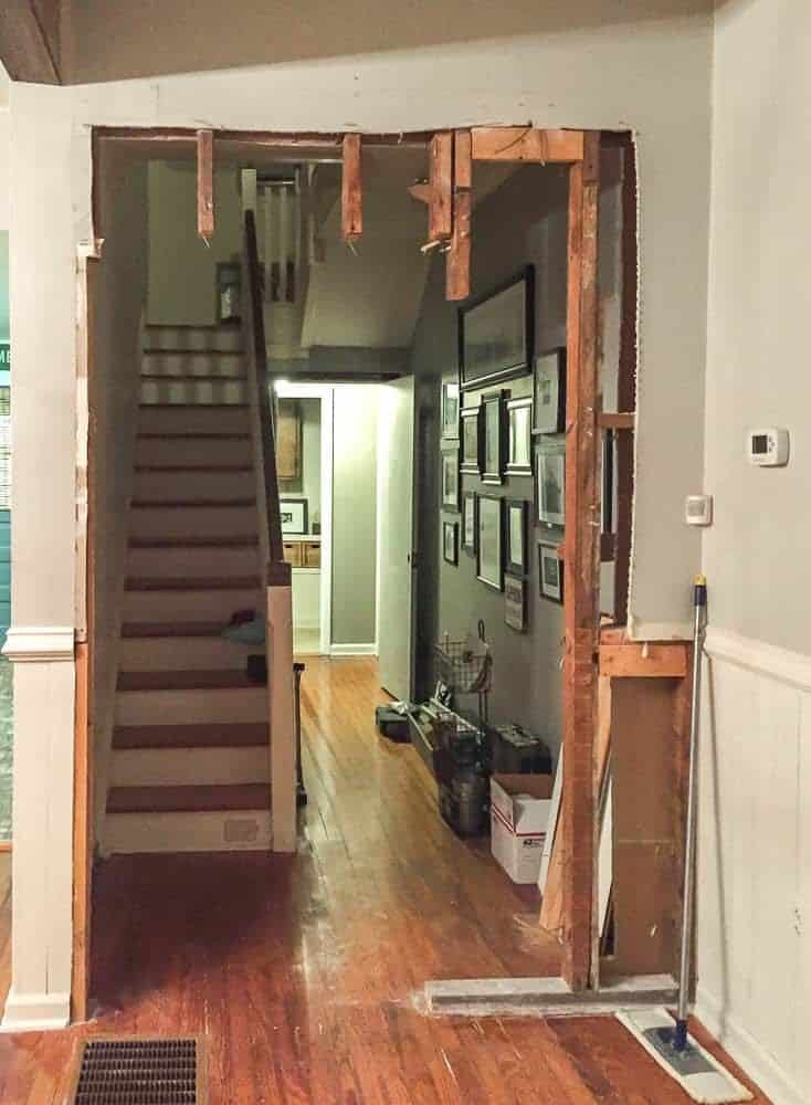 how to cut out a wall for a door and transom