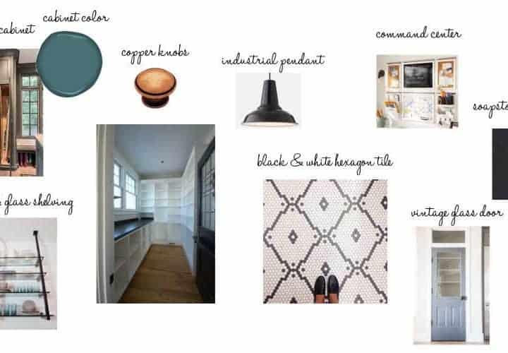 One Room Challenge Week 1: Pantry Design Plans & Moodboard