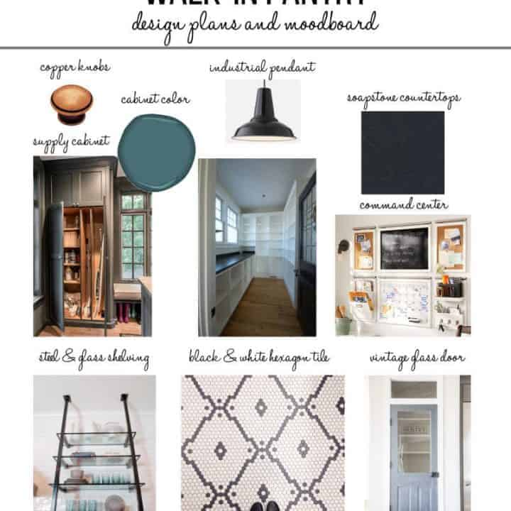 Design ideas for an organized pantry mood board