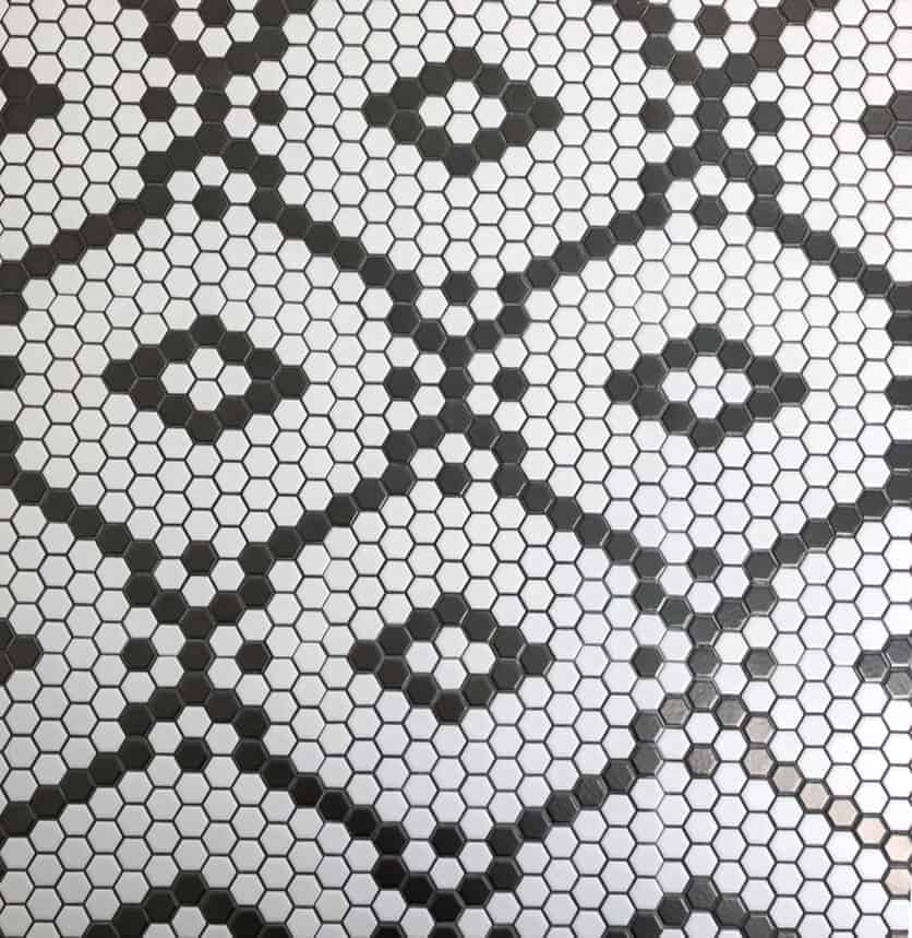 black and white hexagon diamond floor