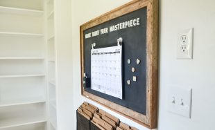 How to Make a Framed Chalkboard Magnetic Board + Command Station: ORC Week 4