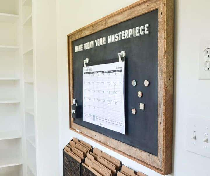 magnetic chalkboard memo board command station