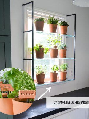 ORC Week 5: DIY Stamped Metal Herb Garden Markers + Window Garden