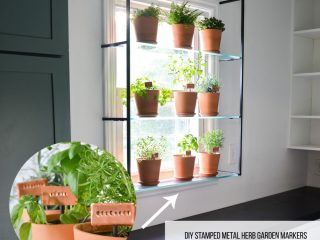 make your own herb garden markers out of stamped metal (1)