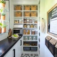 organized walk in pantry remodel