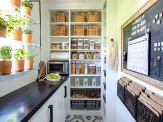 organized walk in pantry remodel