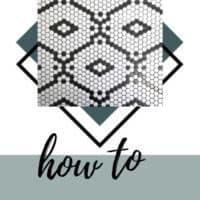 Pantry Hexagon Tile Flooring: One Room Challenge Week 2
