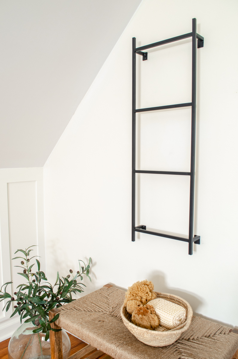 Handmade Metal Wall Mounted Blanket Or Towel Display Ladder Simplicity In The South