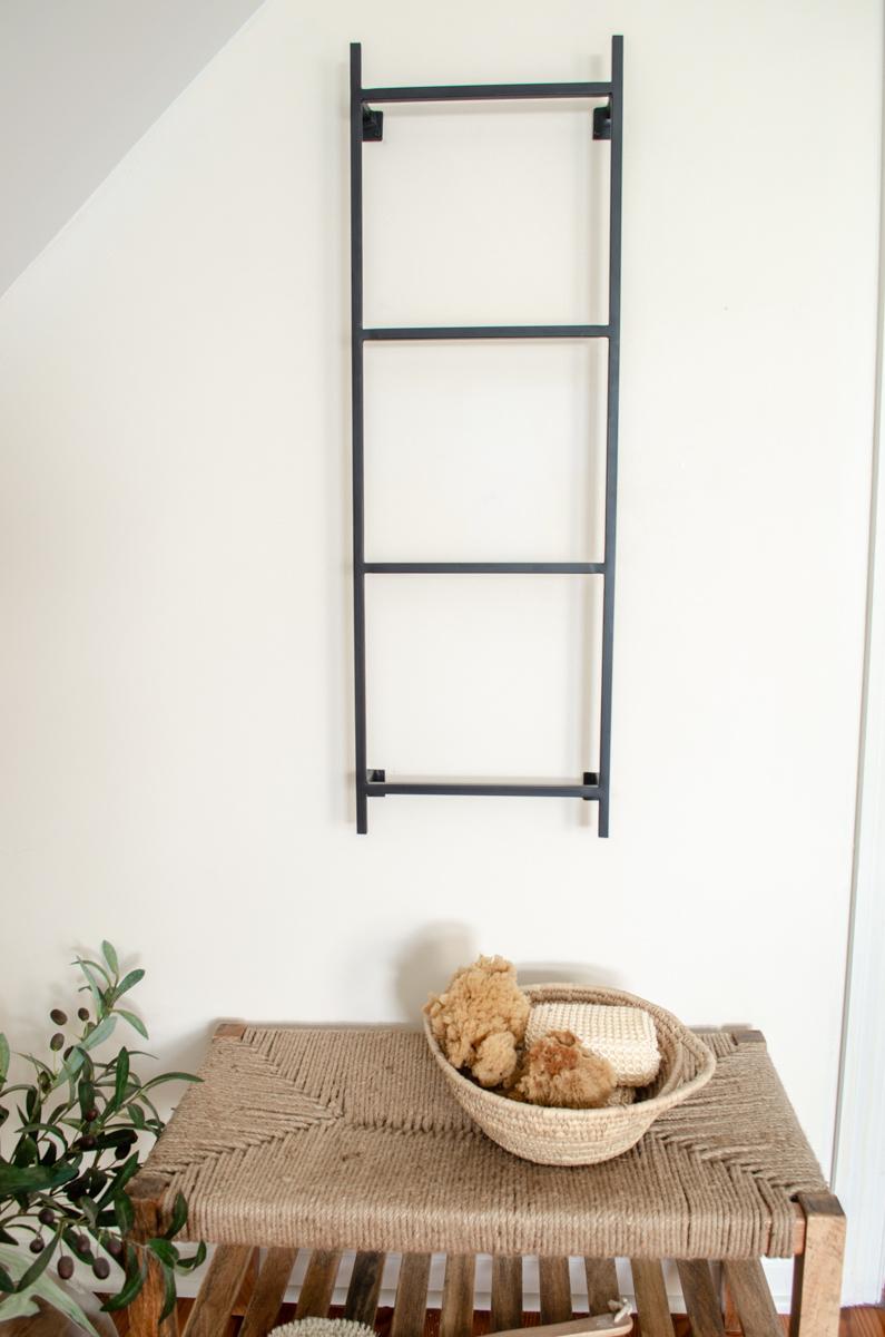 Handmade Metal Wall Mounted Blanket Or Towel Display Ladder Simplicity In The South