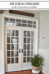 How to install interior french doors with a transom window