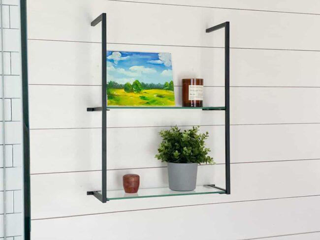modern minimalist half inch steel shelf brackets